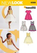 6388 New Look Pattern: Girls' Party Dresses